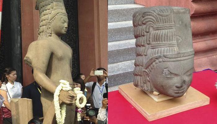 फ्रांस ने 130 साल बाद कंबोडिया को लौटाया हिन्दू देवता की प्रतिमा का सिर
