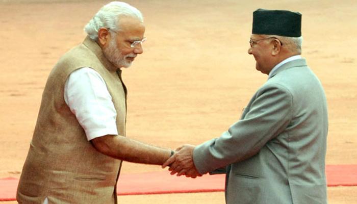 मोदी और ओली ने भारत-नेपाल संबंधों पर की व्यापक वार्ता
