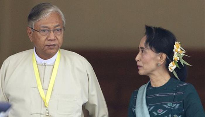 आंग सान सू की के करीबी सहयोगी म्यांमार के राष्ट्रपति निर्वाचित