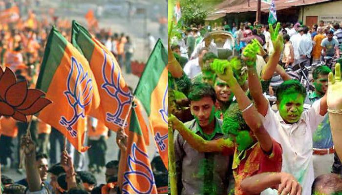 विधानसभा चुनाव परिणाम : भाजपा-टीएमसी में उत्साह, कांग्रेस खेमे में मायूसी