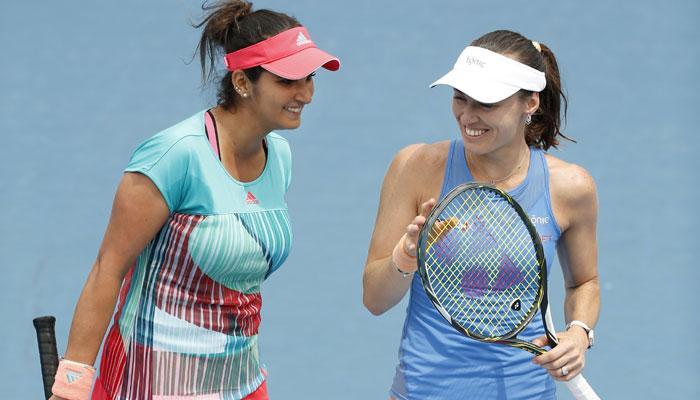 सानिया और मार्टिना की जोड़ी फ्रेंच ओपन के दूसरे दौर में