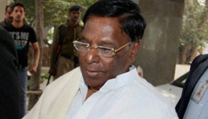 पुडुचेरी: कांग्रेस नेता नारायणसामी ने सरकार बनाने का दावा पेश किया