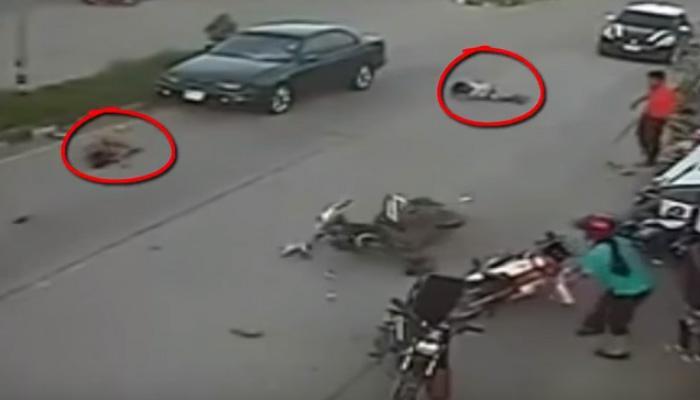 सड़क हादसे का भयावह VIDEO, कार ने स्कूटी पर सवार दो लड़कियों को कुचला