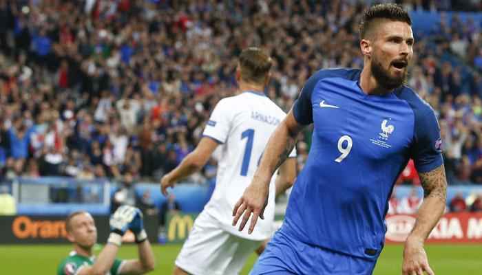 यूरो 2016: आईसलैंड को हराकर फ्रांस सेमीफाइनल में पहुंचा