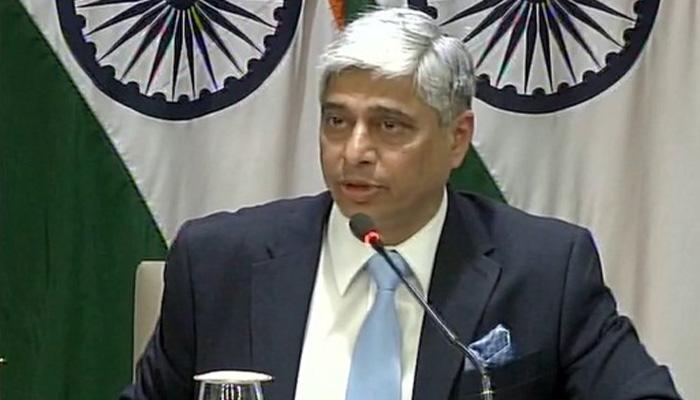 राजनाथ की यात्रा के दौरान पाक नेताओं से कोई द्विपक्षीय बैठक नहीं: विदेश मंत्रालय