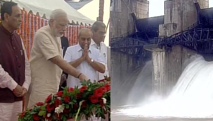 गुजरात: पीएम मोदी ने सौराष्ट्र को दी बांध की सौगात, साउनी परियोजना का किया उद्घाटन