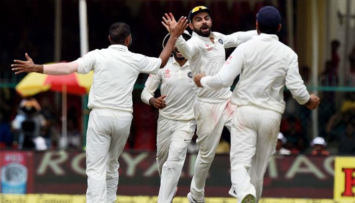ईडन गार्डेन टेस्ट : कीवी गेंदबाजों ने पहले ही दिन बिगाड़ा भारत का खेल, 7 विकट डाउन