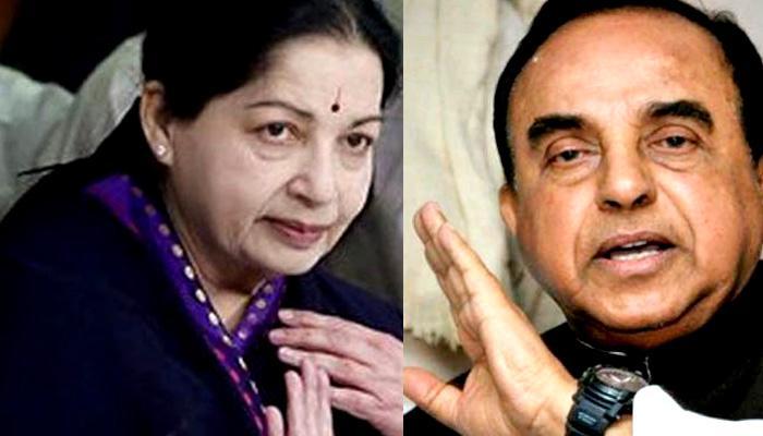 जयललिता अस्पताल में:स्वामी ने तमिलनाडु में राष्ट्रपति शासन लगाने की मांग की