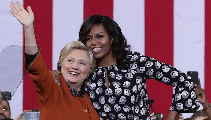 अपनी कैबिनेट में मिशेल ओबामा का खुले दिल से स्वागत करुंगी: हिलेरी