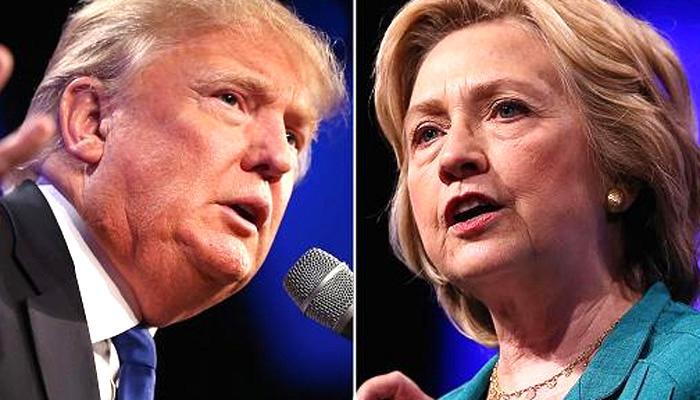 ताजा चुनाव सर्वेक्षण में हिलेरी क्लिंटन अपने रिपब्लिकन प्रतिद्वंद्वी डोनाल्ड ट्रंप से दो अंकों से आगे