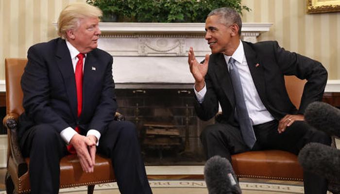 व्हाइट हाउस में ओबामा ने की ट्रम्प की मेजबानी, एक-दूसरे की प्रशंसा की