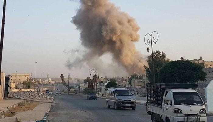 सीरिया शासन की बमबारी में अलेप्पो में 32 नागरिकों की मौत