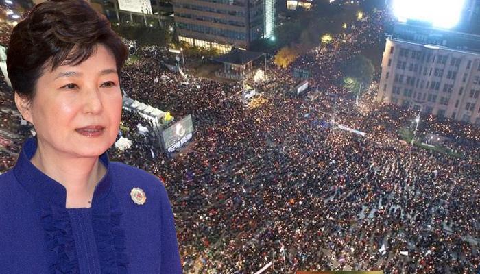 महाभियोग मतदान से पहले पार्क गुएन के विरोध में भारी प्रदर्शन