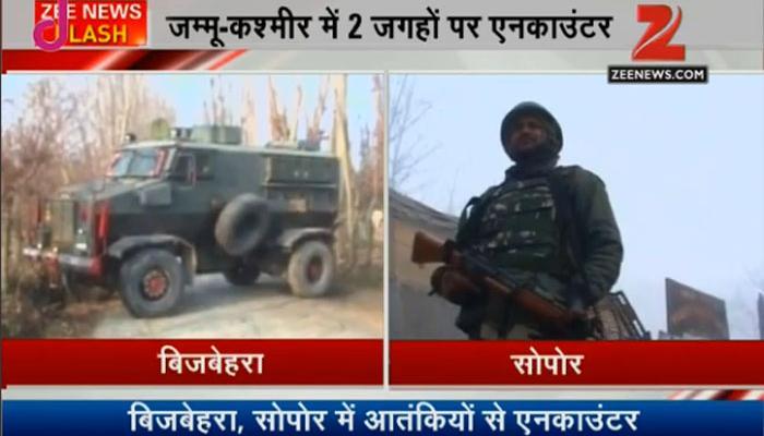 जम्मू-कश्मीर में दो जगहों पर एनकाउंटर, बिजबेहरा में एक आतंकी मारा गया