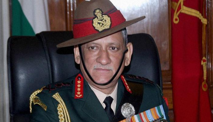 सेना प्रमुख जनरल बिपिन रावत आज जम्मू-कश्मीर का दौरा करेंगे