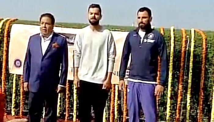 टीम इंडिया के कप्तान विराट कोहली ने होटल में फहराया झंडा