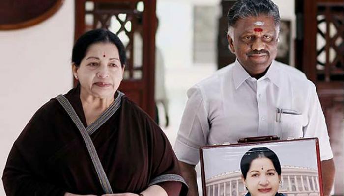 जयललिता की तस्वीर हटाने की मांग पर स्टालिन पर बरसे पनीरसेल्वम