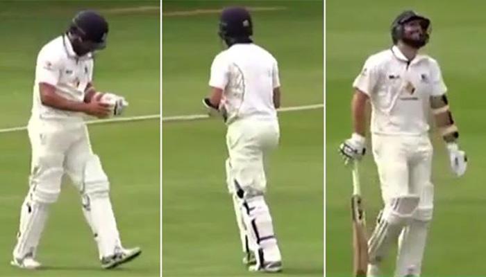 बिना बैट के बैटिंग करने मैदान पर उतरा ये क्रिकेटर तो कोई नहीं रोक पाया हंसी, देखें वीडियो