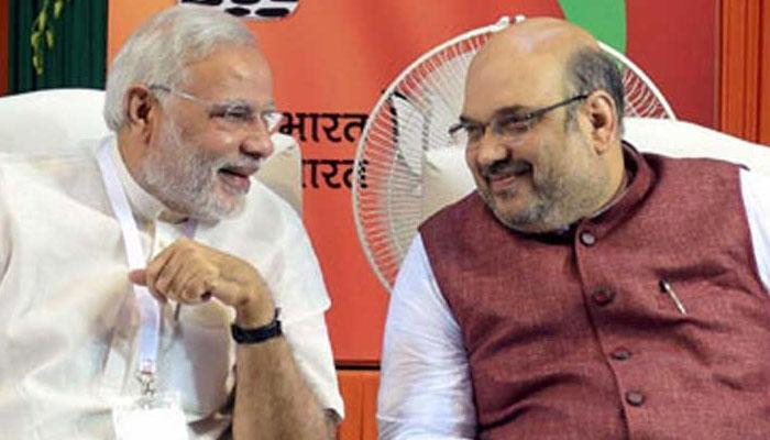 पार्टी कार्यकर्ताओं को 4.30 बजे संबोधित करेंगे मोदी, अमित शाह ने PM को दी बधाई