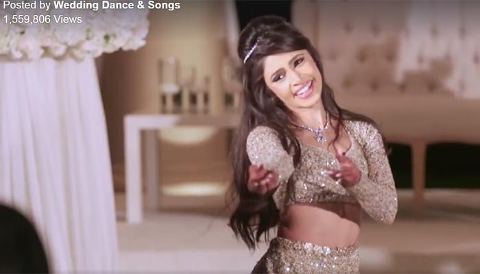 बॉलीवुड के गानों पर डांस कर Facebook पर छा गई न्यूयॉर्क की ये दुल्हन