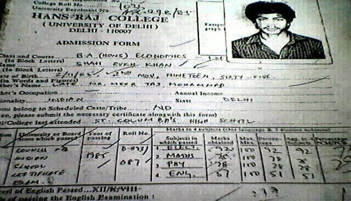 शाहरुख खान का कॉलेज एडमिशन फॉर्म हुआ वायरल, 12वीं में अंग्रेजी के नंबर जानकर रह जाएंगे हैरान
