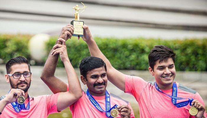 कंपाउंड तीरंदाजों ने विश्व कप के पहले चरण में पुरूष टीम स्पर्धा का स्वर्ण जीता