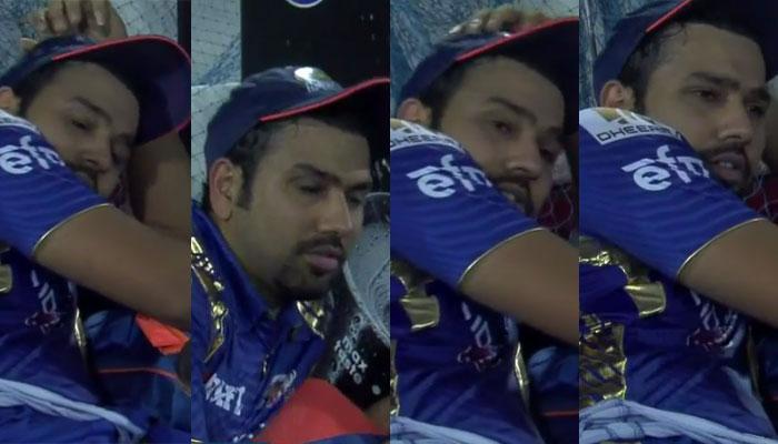 VIDEO : आउट होने के बाद जाकर सो गए थे मुंबई के कप्तान रोहित शर्मा, पुणे ने ऐसे जगाया