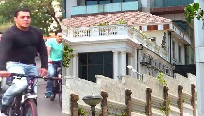 शाहरुख के बंगले के बाहर साइकिल चलाते दिखे सलमान, WATCH VIDEO