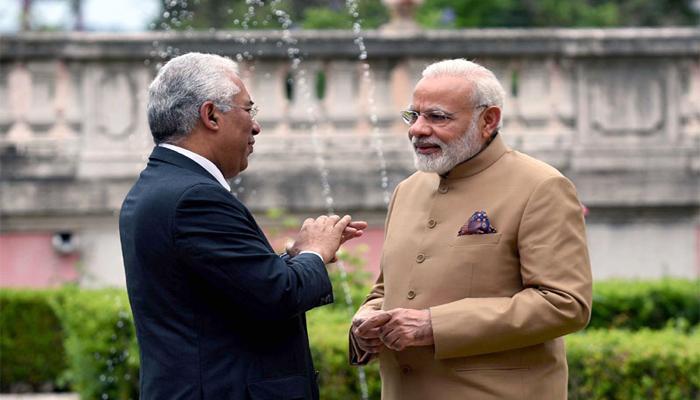 पुर्तगाल पहुंचे PM मोदी, एंटोनियो कोस्टा ने गर्मजोशी से किया स्वागत