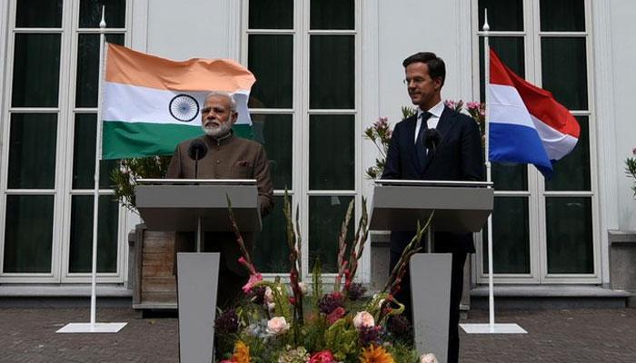 भारत-नीदरलैंड ने आतंकवाद से निपटने में दोहरे मानदंडों की निंदा की