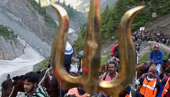 अमरनाथ यात्रा: 8 दिनों में एक लाख से ज्यादा श्रद्धालुओं ने किए बाबा बर्फानी के दर्शन