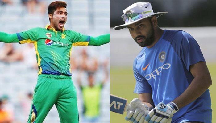 रोहित शर्मा ने पाक के मोहम्मद आमिर को बताया 'साधारण' गेंदबाज, तो मिला यह जवाब...