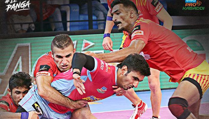 प्रो कबड्डी लीग: दूसरे हाफ में गुजरात ने पलटी बाजी, जयपुर पिकं पैंथर्स को हराया