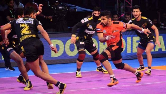 प्रो कबड्डी लीग: राहुल चौधरी चले, तेलुगू टाइंटस ने यू मुंबा को 37-32 से पीटा