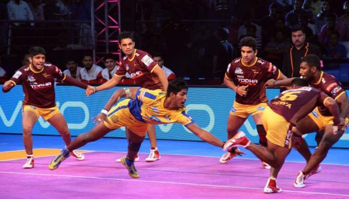 प्रो कबड्डी लीग: यूपी योद्धा और तमिल थलाइवाज का रोचक मुकाबला बराबरी पर छूटा