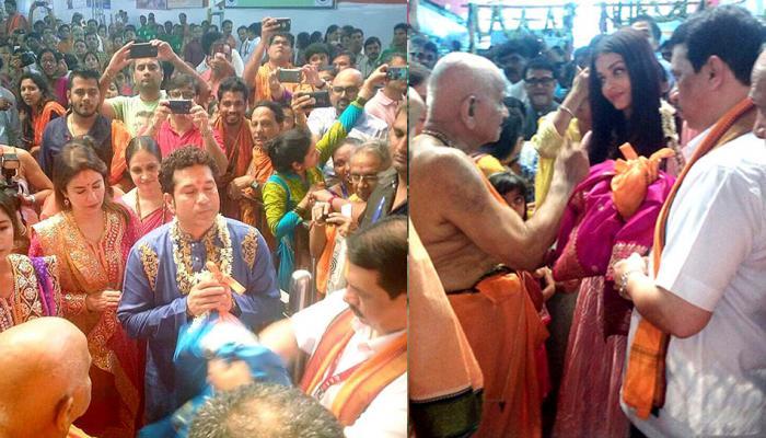 PICS: गणपति बप्पा के दर्शन के लिए बेटी आराध्या के साथ बाहर आईं ऐश्वर्या राय
