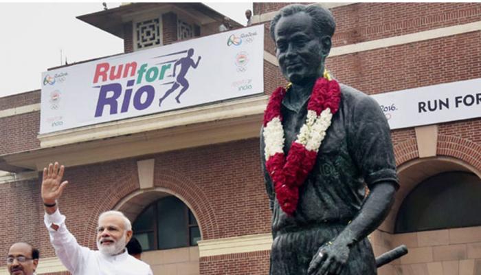 खेल दिवस के मौके पर पीएम मोदी ने मेजर ध्यानचंद को किया नमन