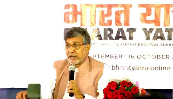 कैलाश सत्यार्थी की घोषणा, 'भारत यात्रा 21 सितंबर को पहुंचेगी हैदराबाद'