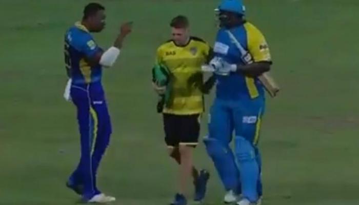 VIDEO : जब दुनिया के सबसे भारी क्रिकेटर से मैदान पर ही भिड़ गए कीरोन पोलार्ड