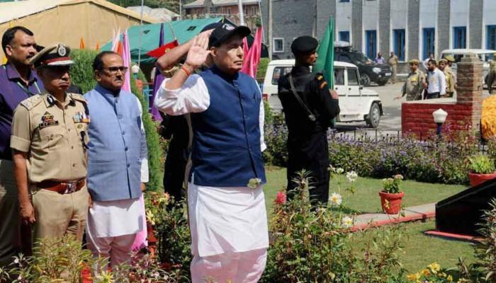 राजनाथ सिंह ने कहा, ड्यूटी पर मारे गए जवानों के परिवारों को एक करोड़ देने का लक्ष्य