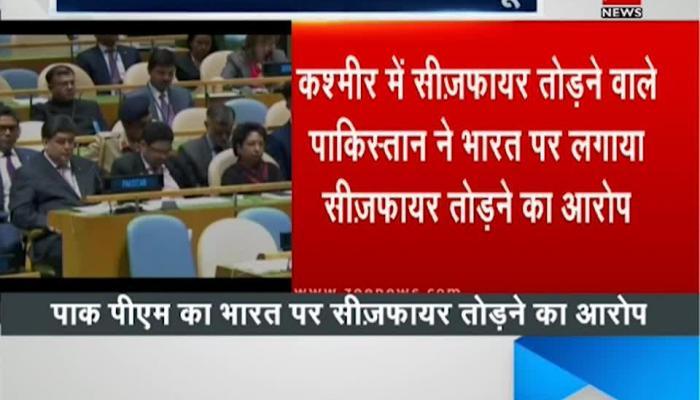 Pak PM Shahid Khaqan Abbasi targets India on the world stage