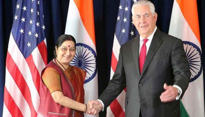 अमेरिकी विदेश मंत्री टिलरसन से मिलीं सुषमा स्वराज; आतंकवाद, एच1बी का मुद्दा उठाया