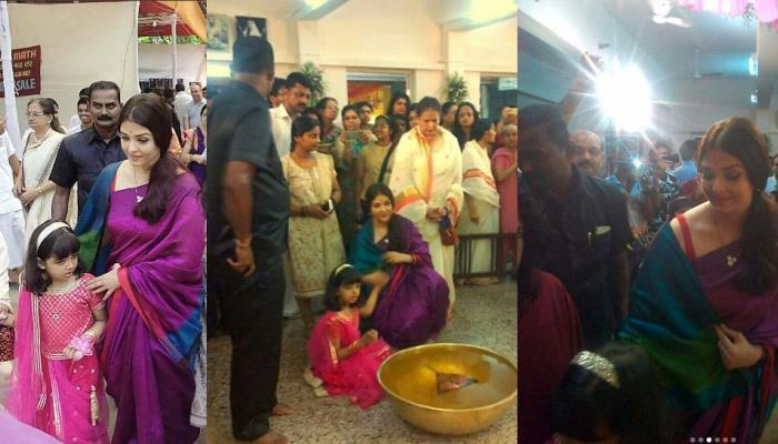 PICS: बेटी आराध्या ने मां ऐश्वर्या राय के साथ इस तरह मनाई दुर्गा पूजा