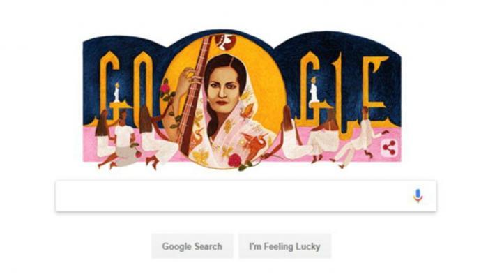 'मल्लिका-ए-गजल' बेगम अख्तर के 103वें जन्मदिन पर गूगल ने डूडल बनाकर दी श्रद्धांजलि