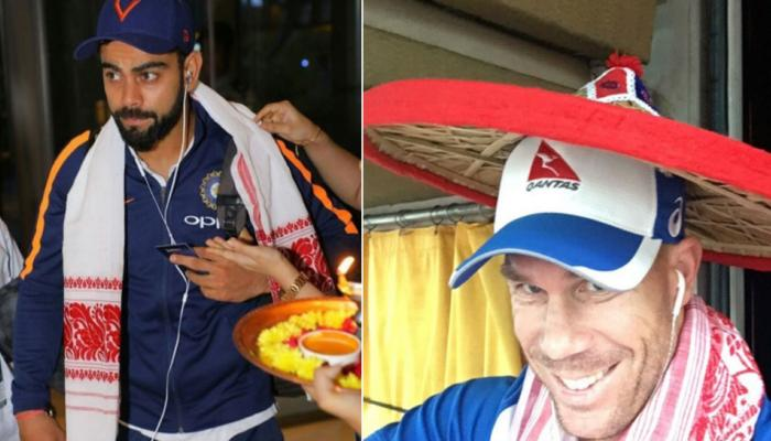 PICS : भारत-ऑस्ट्रेलिया के खिलाड़ी पहुंचे गुवाहाटी, इस खास अंदाज में हुआ स्वागत