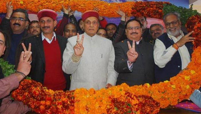 हिमाचल प्रदेश चुनावः BJP जारी करेगी प्रत्याशियों की लिस्ट,नड्डा-धूमल CM कैंडिडेट की रेस में