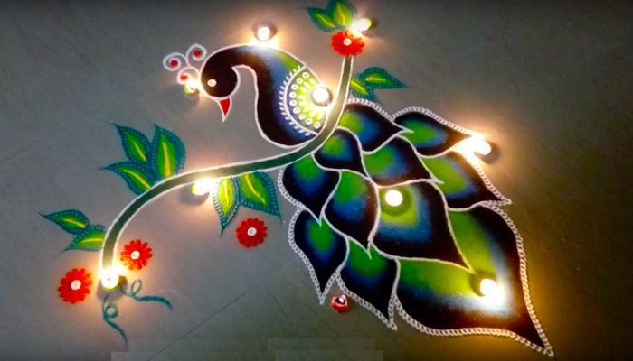 दिवाली पर बनाएं ये खूबसूरत रंगोली डिजाइन, लोग भी करेंगे तारीफ
