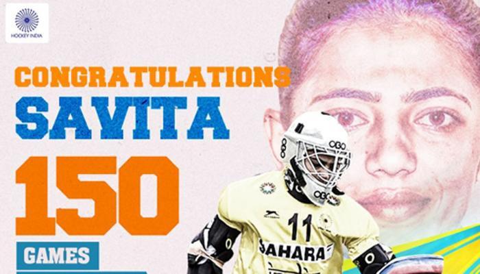 150 अंतरराष्ट्रीय मैच पूरे किए भारतीय महिला हॉकी टीम की गोलकीपर सविता ने