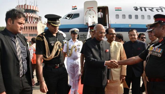 राष्ट्रपति के कार्यक्रम में रामपाल के समर्थकों ने हंगामा किया