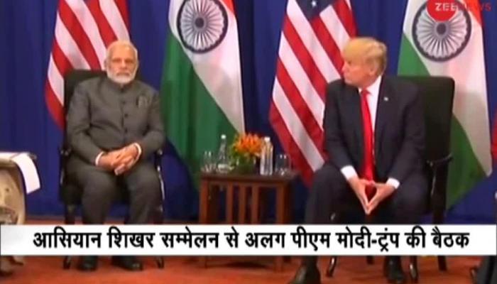 PM Modi meets US President Trump in Manila, Philippines